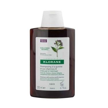 Klorane KLORANE Shampooing quinine & vitamines B 200 ml - Kinin ve B Vit. içeren şampuan (saç dökülmesi) Renksiz